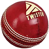 Twister Club Special Cricket Leather Ball, Color: Red