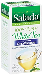 Salada 100% Pure White Tea - Naturally Decaffeinated 20 ct (Case of 6 boxes) by Redco Foods