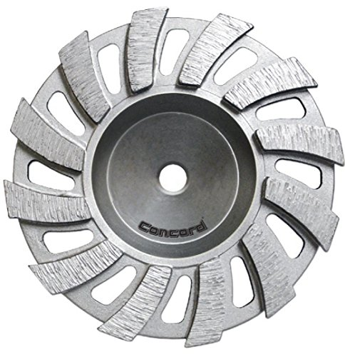 "Concord Blades GCX045AHP 4.5 Inch Swirl I-Turbo Diamond Cup Wheel with 7/8"" -5/8"" Arbor"