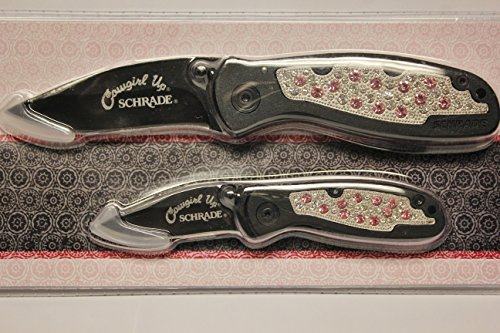 ~Cowgirl Up~Schrade~Bling~Pocket Knife Set~Hunting~Camping~Fishing~(Pack Of 2)