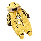 Baby Ladybug and Cows Warm Body Suit Autumn and Winter Clothing Baby Romper