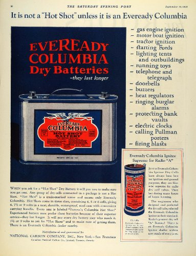1925-ad-eveready-columbia-dry-battery-hot-shot-national-carbon-ignitor-dry-cell-original-print-ad