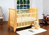 Tutti Bambini Lucas Dropside Sleigh Cot Bed (Oak)