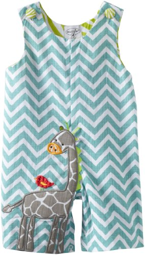 Mud Pie Unisex-Baby Newborn Safari Giraffe Shortall Set, Multi, 0-6 Months