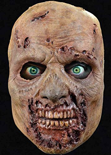 [Rotted Walker Face Mask Walking Dead Zombie Dress Up Halloween Costume Accessory] (Spirit Walker Costume)