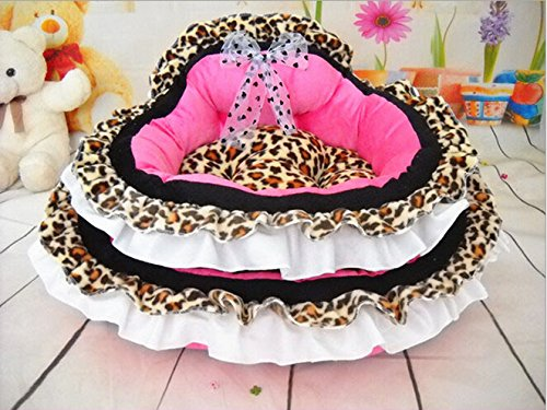 Princess Pet Crate Dog Bed for Small Pets