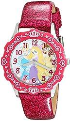 Disney Kids' W001980 Princess Analog Display Analog Quartz Pink Watch