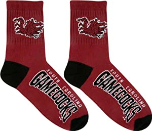 South Carolina Gamecocks Team Color Quarter Socks by For Bare Feet