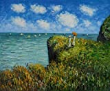 Art Reproduction Oil Painting - Monet Paintings: Cliff Walk At Pourville - Classic 20
