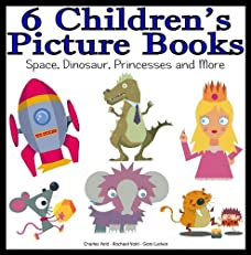 6 Children's Picture Books - Space School, Dinosaur's Only, Ugg and Fang, Mouse in the House, What is that Thing and Princess...
