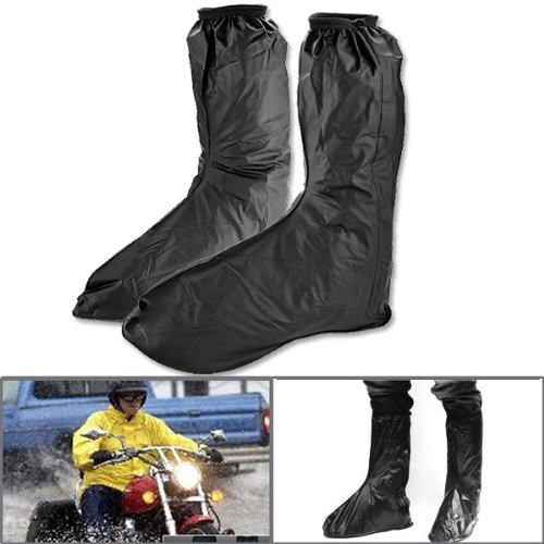 One Pair Mens Motorcycle Street Bike Black Waterproof