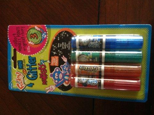 Foohy Brand 4 Mini Washable Glitter Markers
