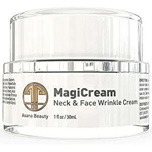 Neck Firming Cream for Wrinkles - With Shea Butter & Glycerin - Skin Rejuvenation Anti Aging Cream for Neck and Chest (Decollete) - Skin Care Products by Asana Beauty 1.0 Fl Oz. / 30ml from Asana Beauty