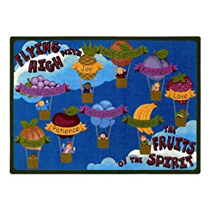 "Faith Based Fruits of the Spirit Kids Rug Rug Size: 3'10"" x 5'4"""
