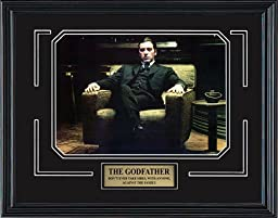 The Godfather Part II. Al Pacino as Don Michael Corleone. Framed Movie Photo in the Black Modern Real Wood Frame (15 x 12)