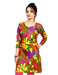Indian Multi Colored Fancy Cotton Printed Kurti 2056 By Triveni