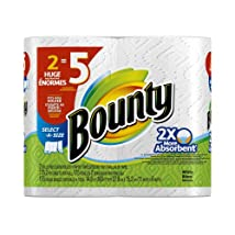 Bounty Select-A-Size Paper Towels Huge Rolls White 12 Count