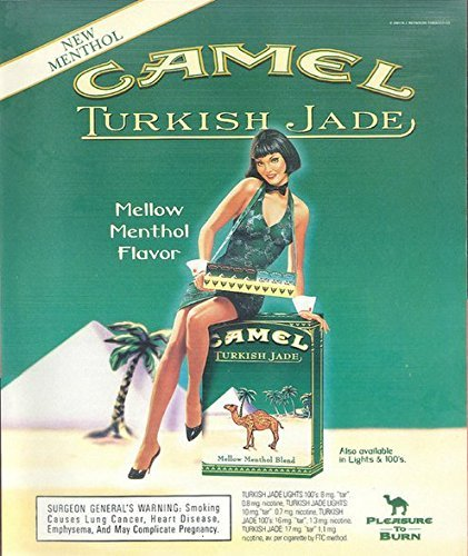 PRINT AD For Camel Turkish Jade Menthol 2001 Large OriginalPRINT AD