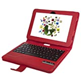 QQ-Tech Removable Detachable Wireless Bluetooth ABS Keyboard PU Leather Case for Amazon Kindle Fire HD 8.9-Inch Tablet (2nd gen) (8.9 Red) ~ QQ-Tech