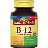 Nature Made Vitamin B-12, 500 mcg, Tablets, 200 tablets