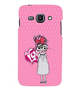 EPICCASE Nerdy Girl Mobile Back Case Cover For Samsung Galaxy Ace 3 (Designer Case)