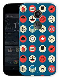 "London High Street Printed Designer Mobile Back Cover For ""Motorola Moto X2"" By Humor Gang (3D, Matte Finish, Premium Quality, Protective Snap On Slim Hard Phone Case, Multi Color)"