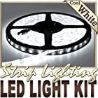 16.4' Feet Cool White 300 LEDs Light Remote Control Dimmer Kit SMD3528 110V Plug - LED Strip Lighting for Aquariums, Bedrooms, Bathrooms, Commercial, Garage, Kitchen, Living Room, Man Caves, Offices, and Vehicles LED Reading Light Strip Night Light Lamp Bulb Accent Lights SMD3528 Waterproof 3528 SMD Flexible DIY 110V-220V