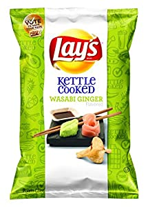 Lay's Do Us A Flavor Finalist, Kettle Cooked Wasabi Ginger, 34 Ounce (Pack of 4)