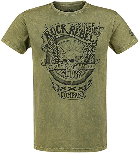 Rock Rebel by EMP Motors Company T-Shirt verde M