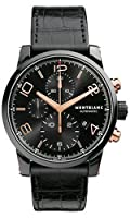 Montblanc Timewalker Black Steel Chronograph Mens Watch 105805 by Montblanc