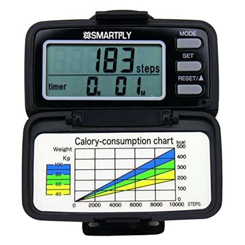 SMARTFLY 3D Large Digital Display Multifunction Pedometer SMARTFLY B00LIWDFUQ