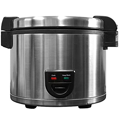 Town 58130 60 Cup (30 Cup Raw) Electric Rice Cooker / Warmer - 120V - Restaurant Equipment by Town