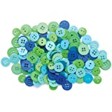 Blumenthal Lansing Favorite Findings Basic Buttons Assorted Sizes, 130/Pkg, Ocean
