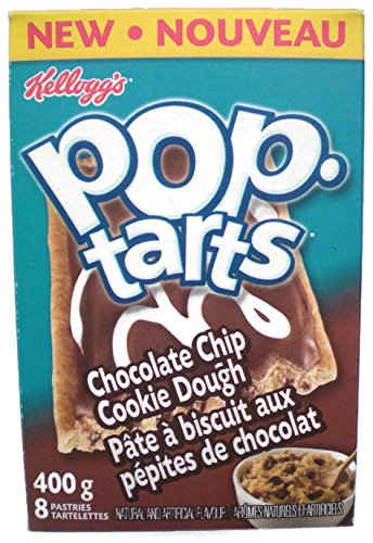 Kellogg's Pop Tarts Chocolate Chip Cookie Dough 400g (8 Pastries) 2 Boxes