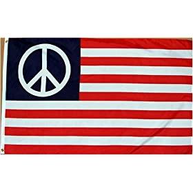 NEW 3x5 USA American Peace Flag 3ft x 5ft Large Banner