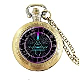 BILL CIPHER WHEEL adjustable pocket watch Doctor Who , womens pocket watch