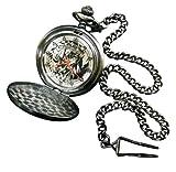 [森本産業]morimotosangyo 懐中時計 ジョジョの奇妙な冒険 ディオ チェーン付き シルバー RM-2780