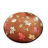 Dearhouse Shaggy Circle Round Maple Leaf Beach Towel Yoga Mat Bath Rug Skid Resist Chair Floor Mats Fuzzy Durable Carpet for Living Room Bathroom 31*31 Inch