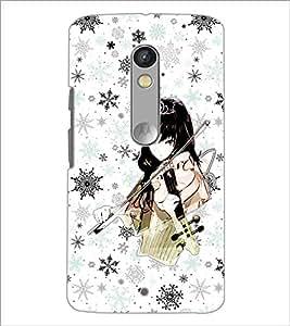 Printdhaba Music Girl D-1113 Back Case Cover For Motorola Moto X Play