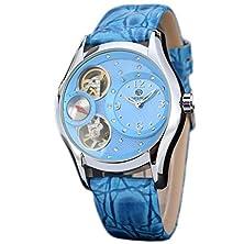 buy E-Future Forsining Luxury Style Tourbillon Mechanical Automatic Self Wind Leather Strap Ladies Watch Blue