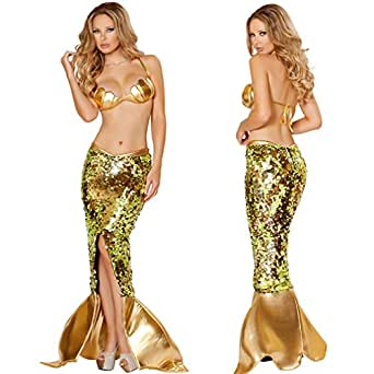 GTU Top Mermaid Cosplay Sexy Lingerie Halloween Gift Pary Club Costume Set