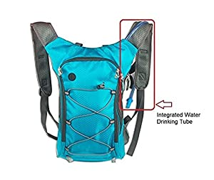Sport Backpack with 6.5 Watt Solar Charging Panel and Built-In Hydration Pack(without Battery) by Emperor of Gadgets