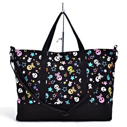 e-bag-lezione-tassello-del-cranio-di-modo-alla-moda-per-bambini-glitter-star-nero-made-in-japan-n090