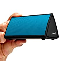 The OontZ Angle - TOP RATED - Ultra-Portable Wireless Bluetooth Speaker by Cambridge Soundworks. Better Sound, Better Volume, Incredible Online Price (((Blue Grille)))