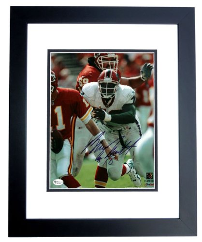 Signed Bruce Smith Picture 8x10 Black Custom Frame Hall Of Famer
