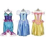 Disney Princess Deluxe Dress Up Set - Ariel/Cinderella/Belle