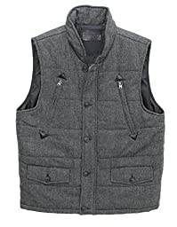 Buffalo David Bitton Men\'s Jerome Vest-Heather Grey-XL