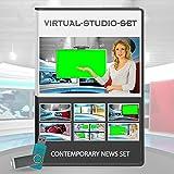 HD Contemporary Studio Set - News Production Background Kit