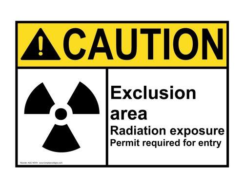 Compliancesigns Aluminum Ansi Caution Sign, 10 X 7 In. With Mri / X-Ray / Microwave Info In English, White