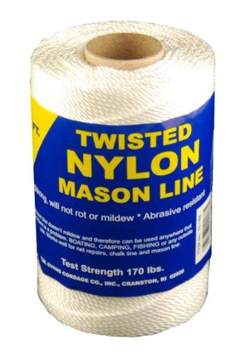 T.W . Evans Cordage 10-214 Number-21 Twisted Nylon Mason Line, 185-Feet